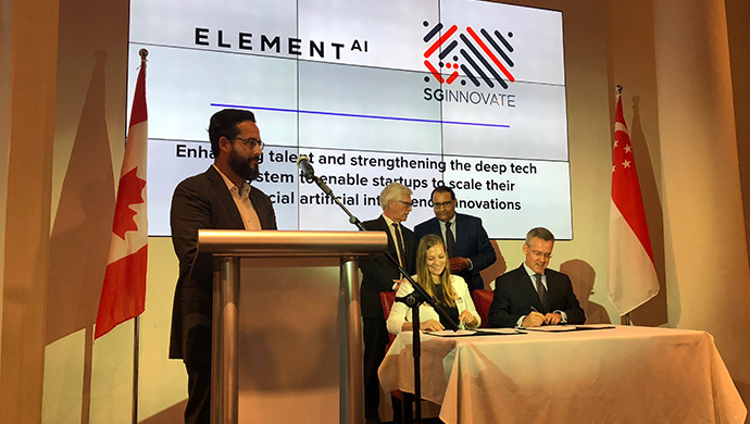 Element AI forges partnerships with GIC, SGInnovate, SMU